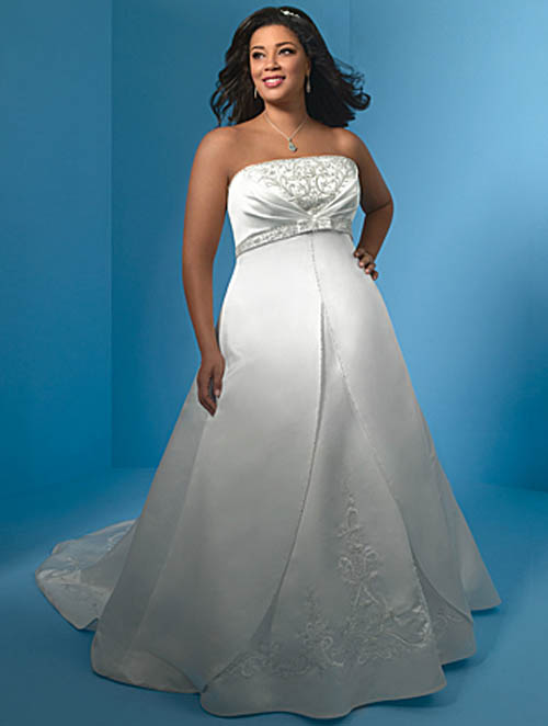 Informal plus size wedding dresses wedding plan ideas for Wedding dress plus size cheap