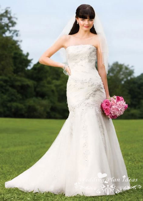Strapless mermaid wedding dresses by alfred angelo
