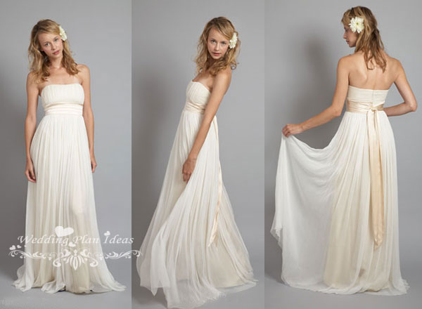 White Grecian wedding gowns