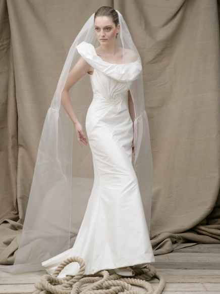 Acquachiara satin wedding gowns 2011