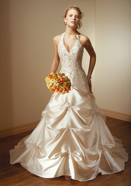 Ball gowns halter wedding gown