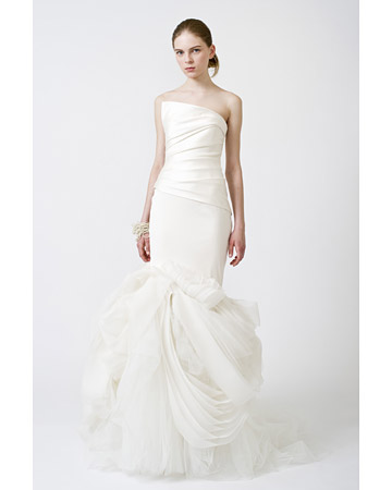Trumpet or mermaid wedding dress for Spring 2011 by Vera Wang