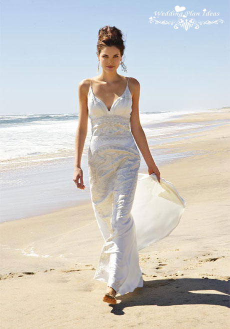 Nicole Miller beach wedding dress
