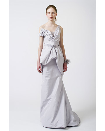 one shoulder wedding dress Spring 2011 collection by Vera Wang