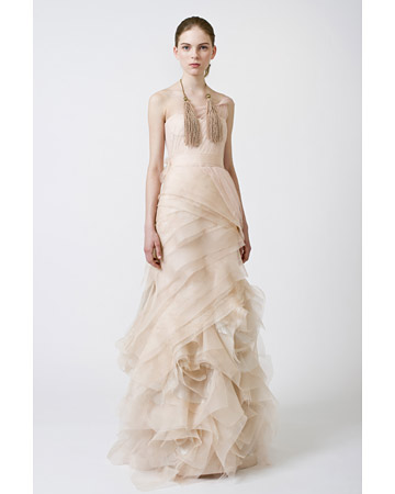 wedding dress Spring 2011 collection sheath style by Vera Wang
