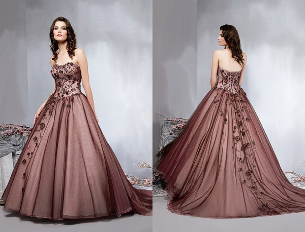 Brown wedding dresses idea