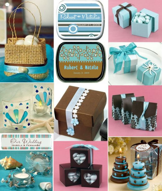 Tiffany Blue and Brown Favor Ideas