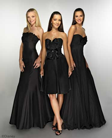 Black Strapless Maxi Dress on Bridesmaid Dresses Black And White   Black Strapless Dress