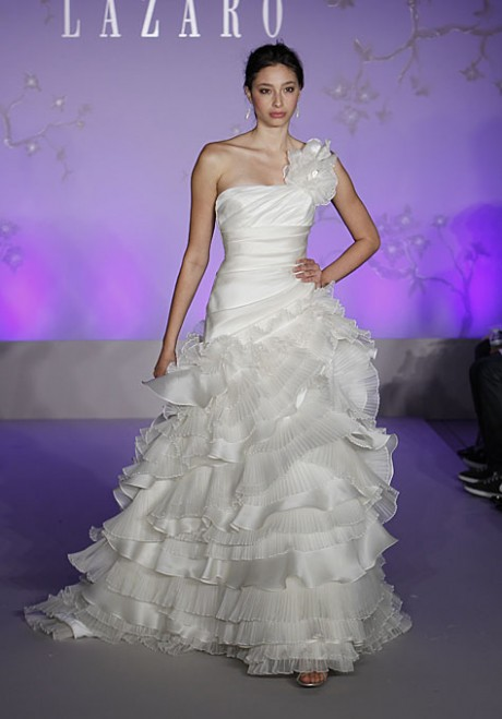 Lazaro Sexy One Shoulder Style Wedding Dresses Spring 2011