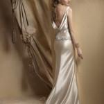 ivory dream sheath wedding gown open back