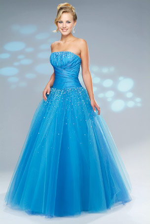 Beautiful Strapless Princess Prom Dresses