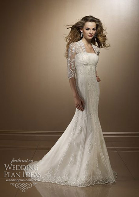 Alencon and Chantilly Lace Wedding Dress