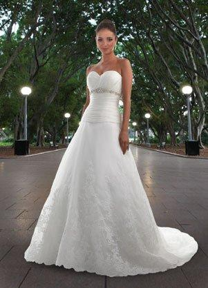 DaVinci Strapless A Line wedding dress