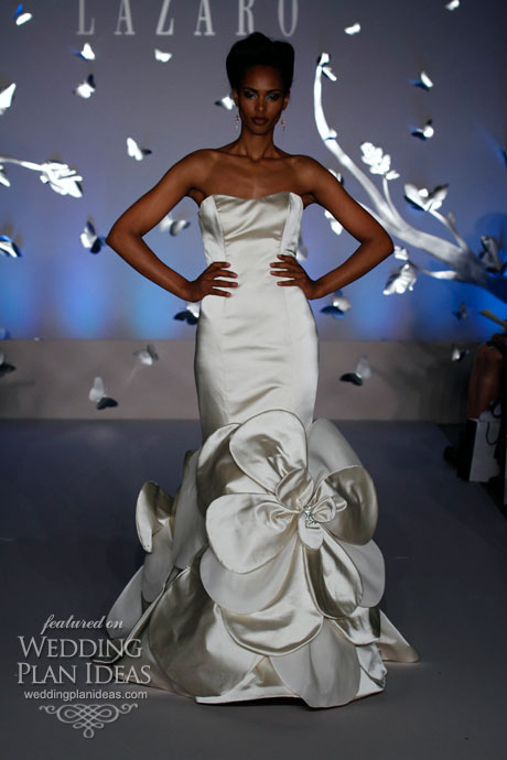 Large Floral Detail Wedding Dress