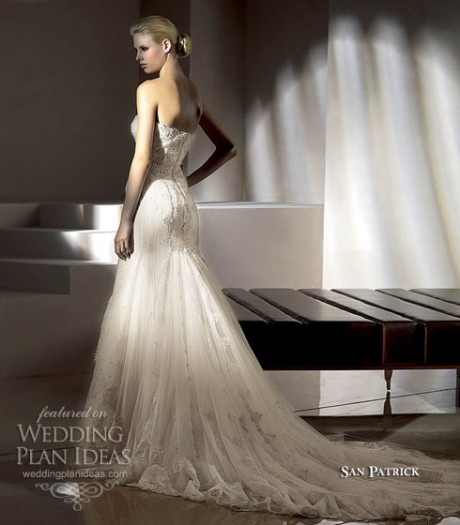 San Patrick Wedding Dress open back strapless