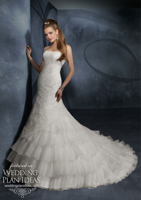 Layer skirt wedding dresses