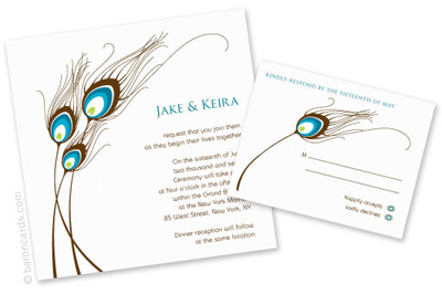 peacock wedding invitations Wedding Plan Ideas