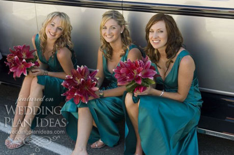 Wedding curly bridesmaid hairstyles