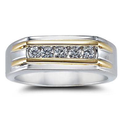 gold wedding ring for men - Grooms Wedding Ring