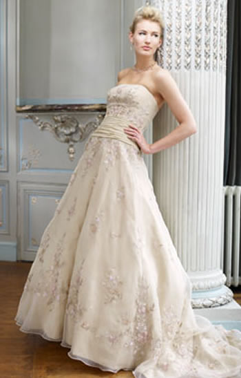 Ian Stuart Strapless Wedding Dress