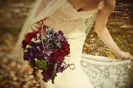 fall wildflower bouquet