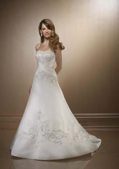 strapless silk wedding dresses