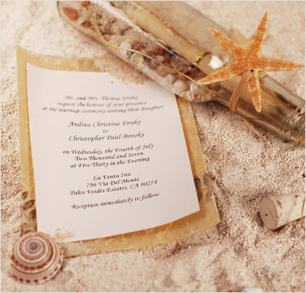 unique beach wedding invitations ideas