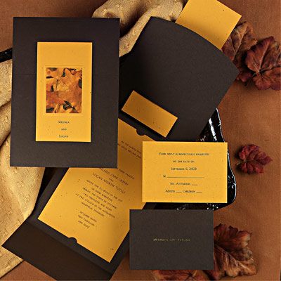 unique fall wedding invitations design ideas