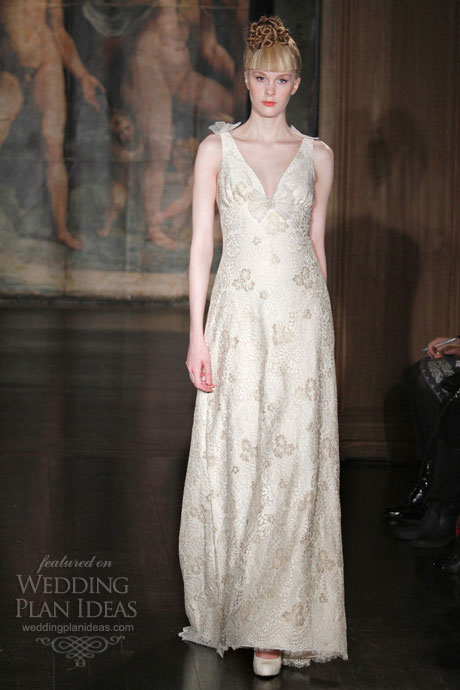 Bohemian wedding gown by claire pettibone origami