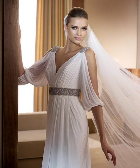 Greek goddess bridal gowns wedding plan ideas for Grecian goddess wedding dresses