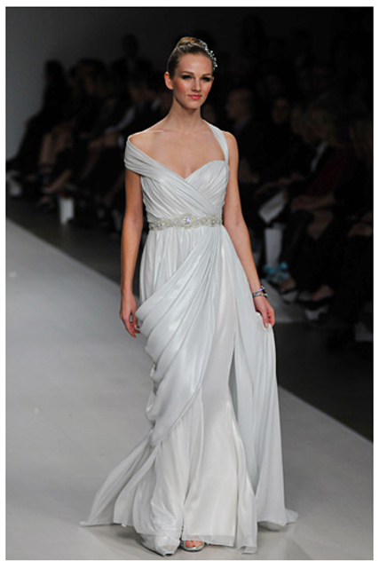 Greek goddess bridal gowns offer a romantic feminine and sexy