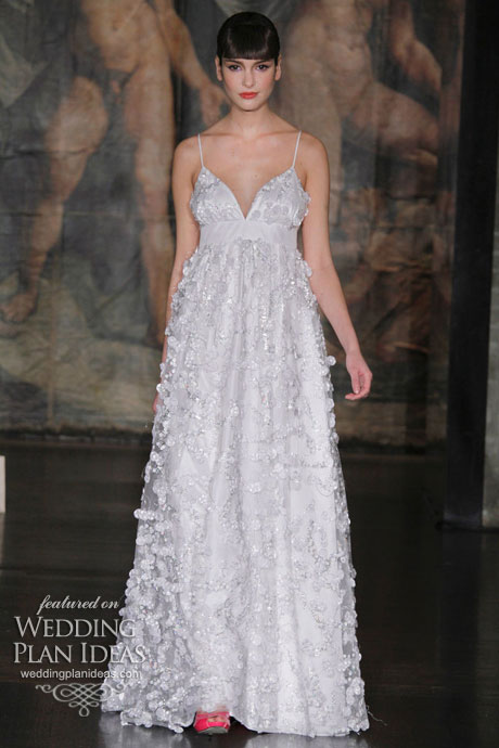 glamorous wedding gown by claire pettibone