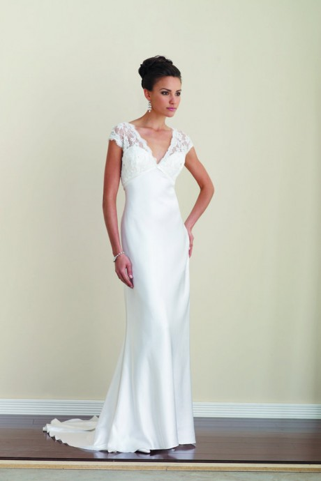 V Neck Sheat Wedding Dress