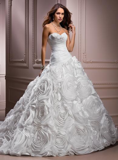 Maggie Sottero White A Line Wedding Dress