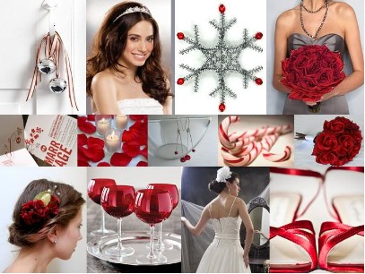 Christmas wedding decorations and flavors