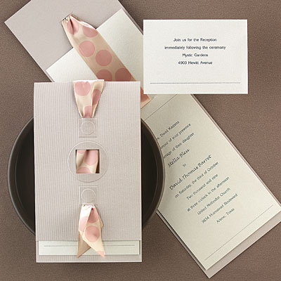 Wedding on Wedding Invitations With Ribbon Jpg