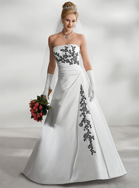 White black wedding dresses wedding plan ideas for Black floral dress to a wedding