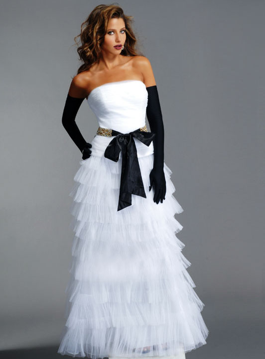 White Black Wedding Dress With Gloves Wedding Plan Ideas