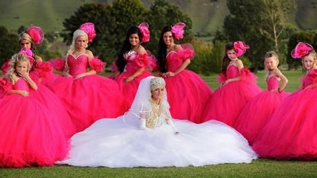Gypsy wedding dress and gypsy bridesmaid dresses