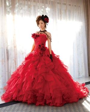 Red Gypsy Wedding Dress