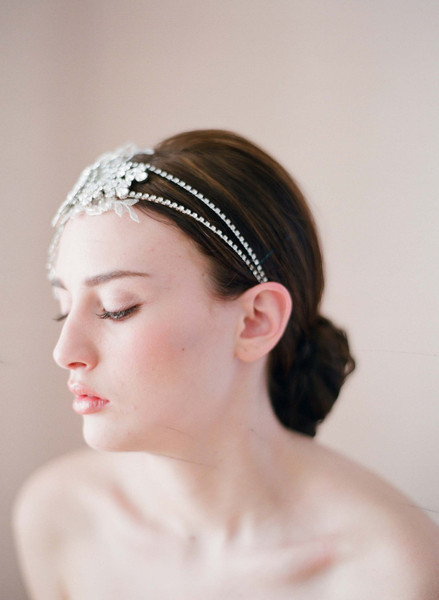 Bridal Headpieces for Wedding by Twigs and Honey left view