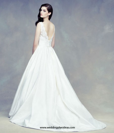 Paloma Blanca A line Wedding Dress Open Back