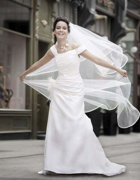 Another Short Sleeves Wedding Dress 2012