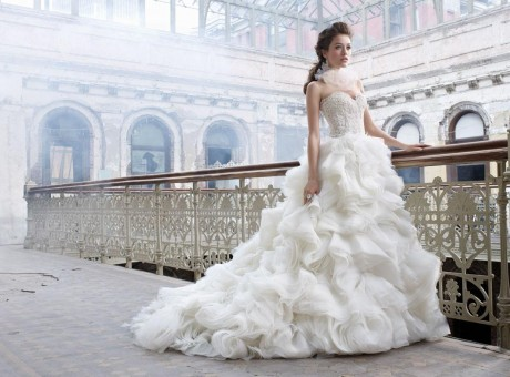 Rufled Bodice Sweetheart Wedding Dress 2012