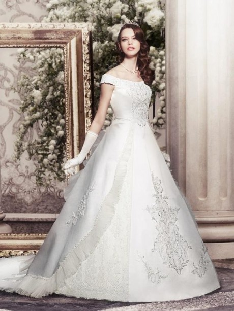 Short Sleeves Wedding Dress 2012