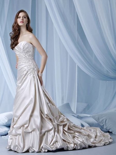 Strapless Satin Wedding Dress 2012