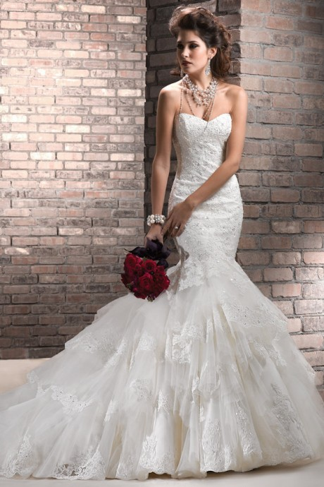 Beautiful Trumpet / Mermaid Wedding Dresses Designed by Maggie Sottero