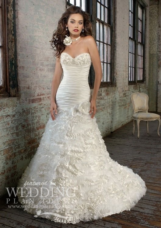 Glamorous Sweetheart Mermaid Trumpet Wedding Dress