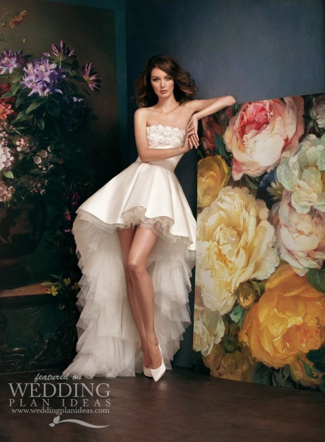 Satin Short Wedding Dress by Alena Goretskaya