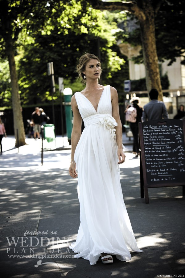 Simple Wedding Dress by Cymbeline